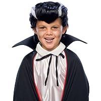 ヴァンパイア 吸血鬼 ウィッグ、かつら ブラック 大人子供兼用