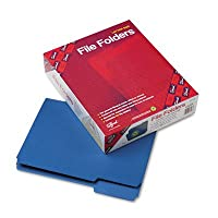 ファイルフォルダ、1/ 3カットTopタブ、手紙、ネイビー、100/ボックス 1-Pack
