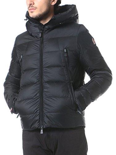 (モンクレール グルノーブル) MONCLER GRENOBLE フェイクレイヤード ナイロン100% 袖ロゴワッペン フード付き フルジップ ダウンブルゾン CAMURAC [【MCGNCAMURAC7】] ブラック(999) / L(3) [並行輸入品]