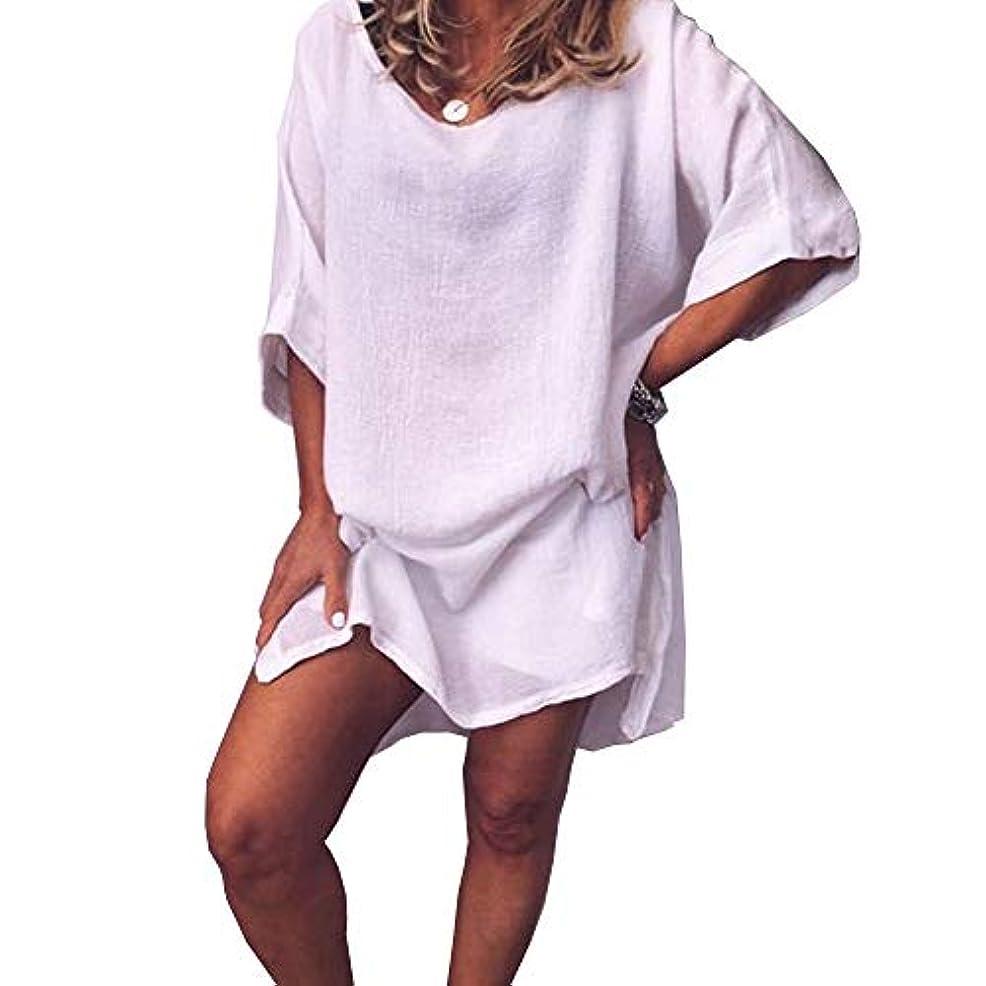 MIFAN サマードレス、ビーチドレス、ルーズドレス、プラスサイズ、リネンドレス、トップス&ブラウス、女性ドレス、カジュアルドレス