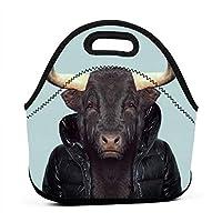 Buffalo Sir 保温再利用可能おポータブル弁当箱ランチトートバッグ食事袋子供大人ユニセックス