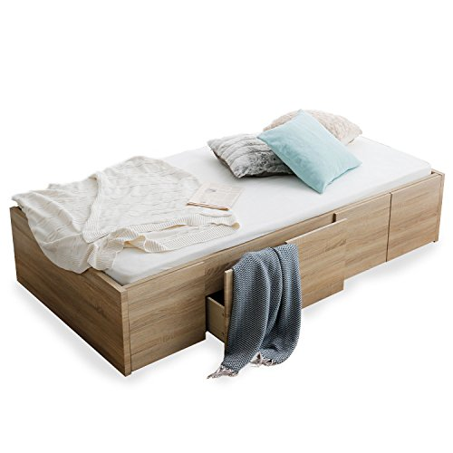 LOWYA (ロウヤ) ベッド シングルベッド収納付き