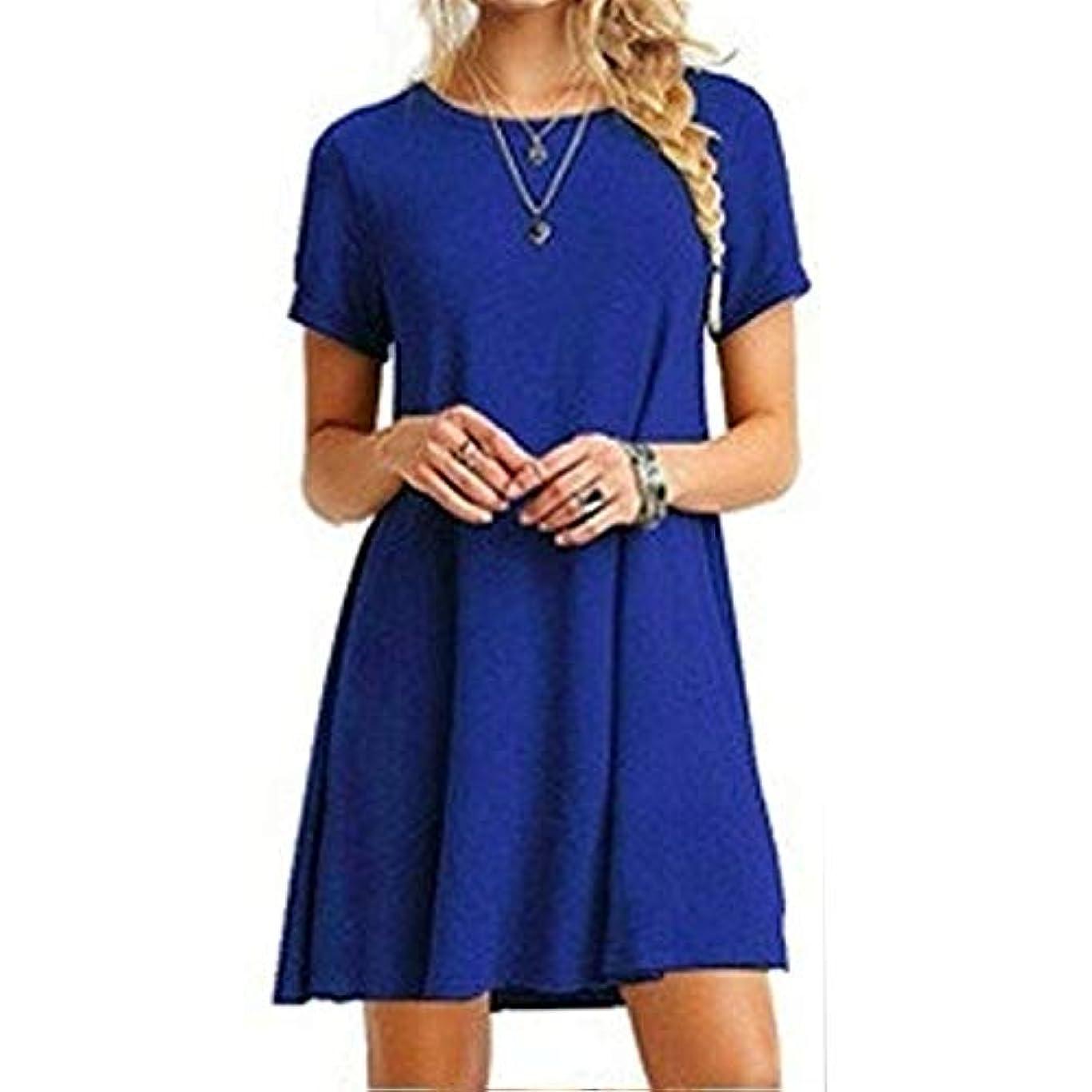 決定する始まり帰するMIFAN女性のファッション、カジュアル、ドレス、シャツ、コットン、半袖、無地、ミニ、ビーチドレス、プラスサイズのドレス