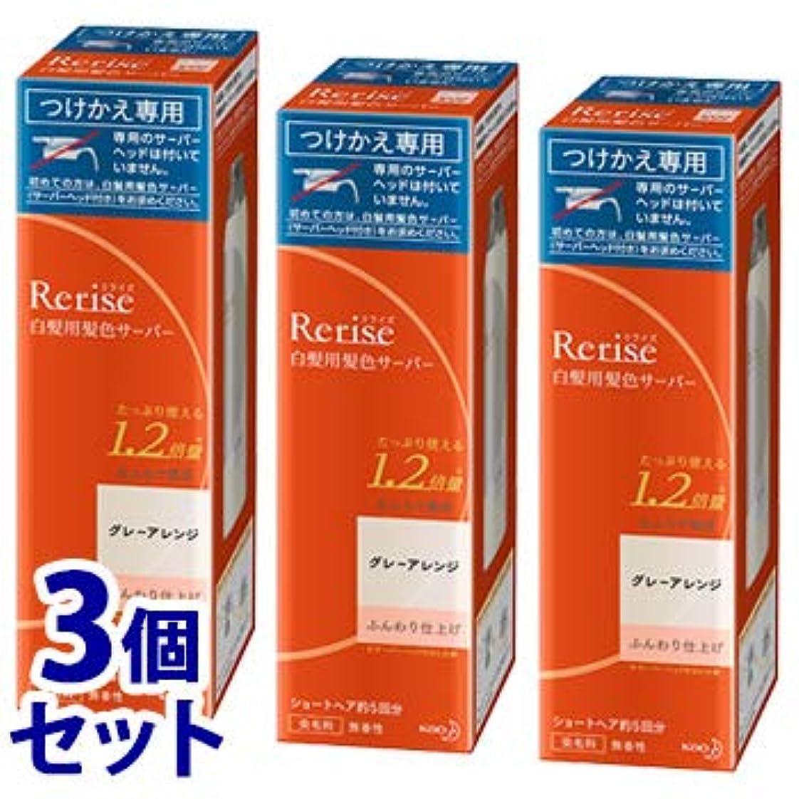 《セット販売》 花王 リライズ 白髪用髪色サーバー グレーアレンジ ふんわり仕上げ つけかえ用 (190g)×3個セット 付け替え用 染毛料