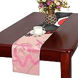 LKCDNG テーブルランナー 美しい 和風の歌舞伎 クロス 食卓カバー 麻綿製 欧米 おしゃれ 16 Inch X 72 Inch (40cm X 182cm) キッチン ダイニング ホーム デコレーション モダン リビング 洗える