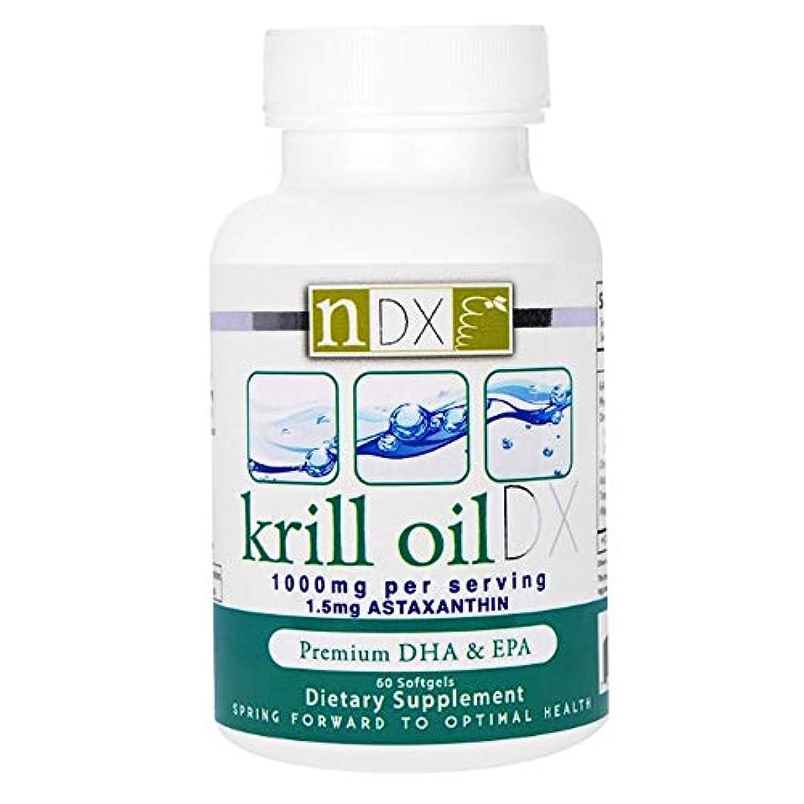 行商人強打ハンカチNatural Dynamix NDX オキアミ油 DX 1000 mg ソフトジェル 60 錠 【アメリカ直送】