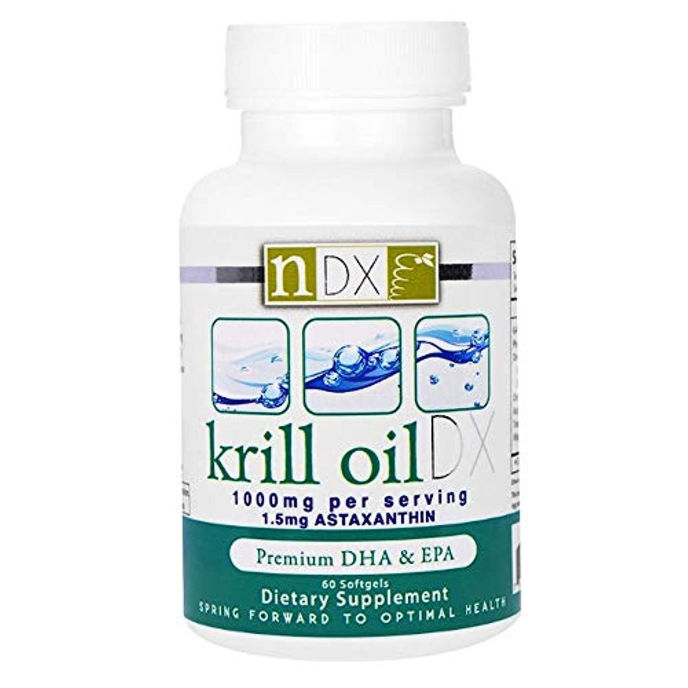 甘美なカリキュラム文字通りNatural Dynamix NDX オキアミ油 DX 1000 mg ソフトジェル 60 錠 【アメリカ直送】