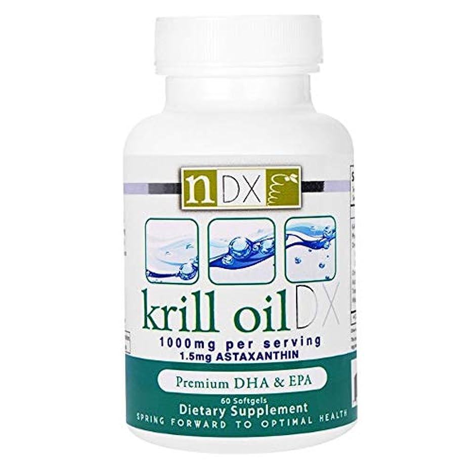 銛スカイブロックNatural Dynamix NDX オキアミ油 DX 1000 mg ソフトジェル 60 錠 【アメリカ直送】