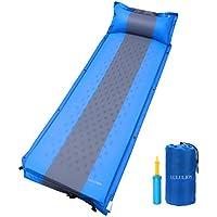 lululion Self Inflating Sleeping Pad with Pillow – 軽量コンパクトキャンプマット – Great forアウトドアキャンプ、ハイキング、バックパッキング、& Traveling – エアポンプ付属