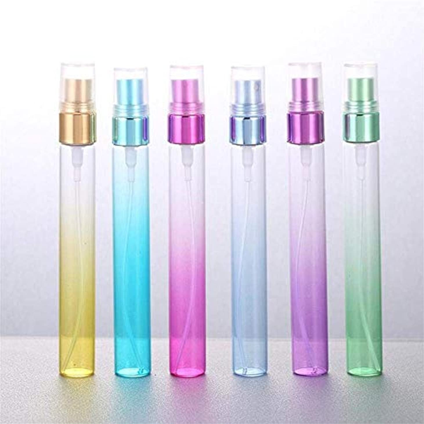 散歩ギャラントリーマーケティングgundoop アトマイザー ミニ グラデーション色 詰め替えボトル 香水瓶 化粧水用瓶 アトマイザー ポンプ 6個 10ml (グラデーション色)