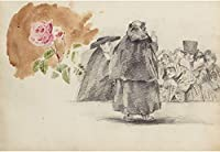 Eugene Delacroix ジクレープリント キャンバス 印刷 複製画 絵画 ポスター (ゴヤの後におそらく文字の研究) #XFB