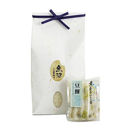 [お正月に 新潟からの贈り物] 新潟米 南魚沼産コシヒカリ3kg + 切り餅(豆餅)