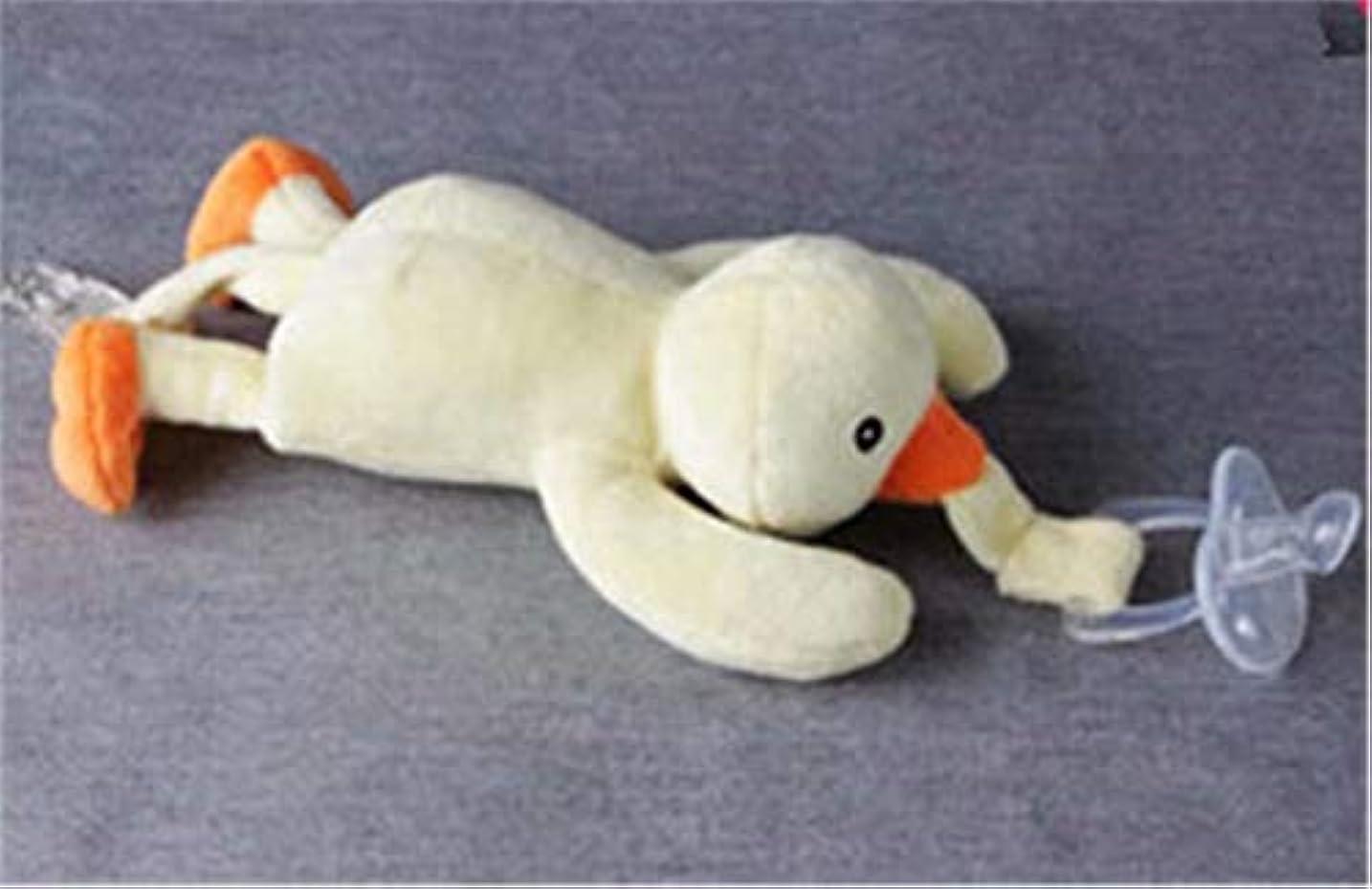遺伝子中庭逮捕七里の香 ベビー 動物のぬいぐるみ おしゃぶりホルダー 取り外し可能な おもちゃ (おしゃぶりは含まれません)