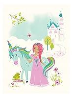 Sea Urchin Studio Princess and Unicorn Art Poster Pastel 12 x 16 [並行輸入品]