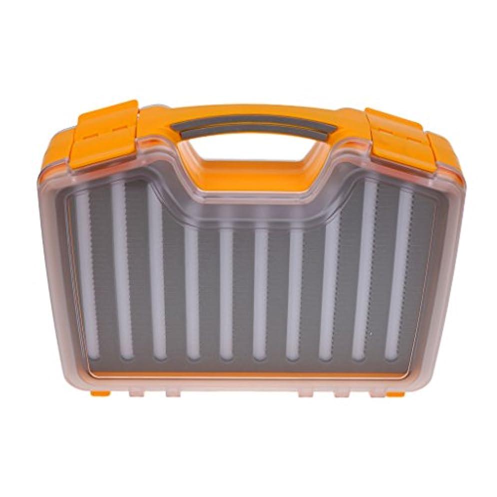 疎外大破ぼかすPerfeclan フライボックス 防水 ダブルサイド 両面防水 フライフィッシングケース タックルボックス
