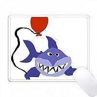 赤い風船をつけているおかしいサメ PC Mouse Pad パソコン マウスパッド