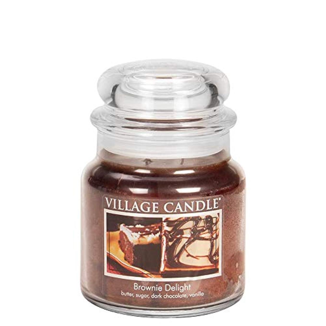 モネクロール時代遅れVillage Candle Medium Fragranced Candle Jar?つ - 14cm x 10cm - 16oz (899g)- Brownie Delight - upto 105 hours burn...