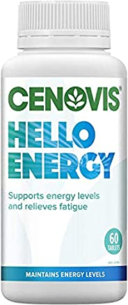 CENOVIS Hello Energy - Support Energy Levels and Nervous System Function - Relieve Tiredness and Fatigue, 60 T