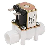 Pomya NC/プラスチック電磁弁、配水用12V G1 / 2、ノーマルクローズツール 、洗濯機、ウォーターディスペンサー、庭のスプレー灌漑などに最適