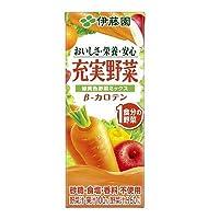 伊藤園 充実野菜 緑黄色ミックス 紙パック 200ml×12本