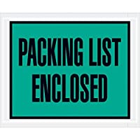 Top Pack Supply Tape LogicPacking List Enclosed Envelopes 4 1/2 x 5 1/2 Green (Pack of 1000) [並行輸入品]
