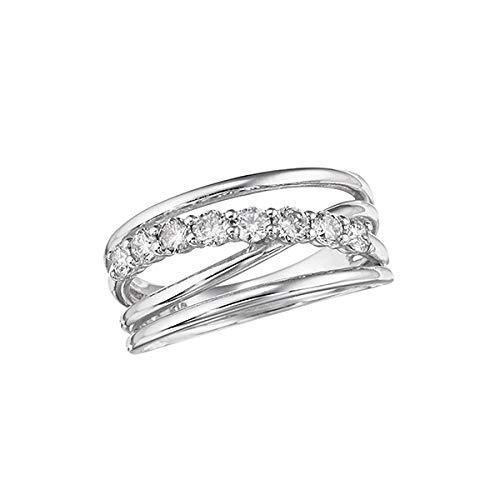 [ジュエリーツツミ]JEWELRY TSUTSUMI K18ホワイトゴールドダイヤモンドリング(ピンキーリング) RFR062-001 10号