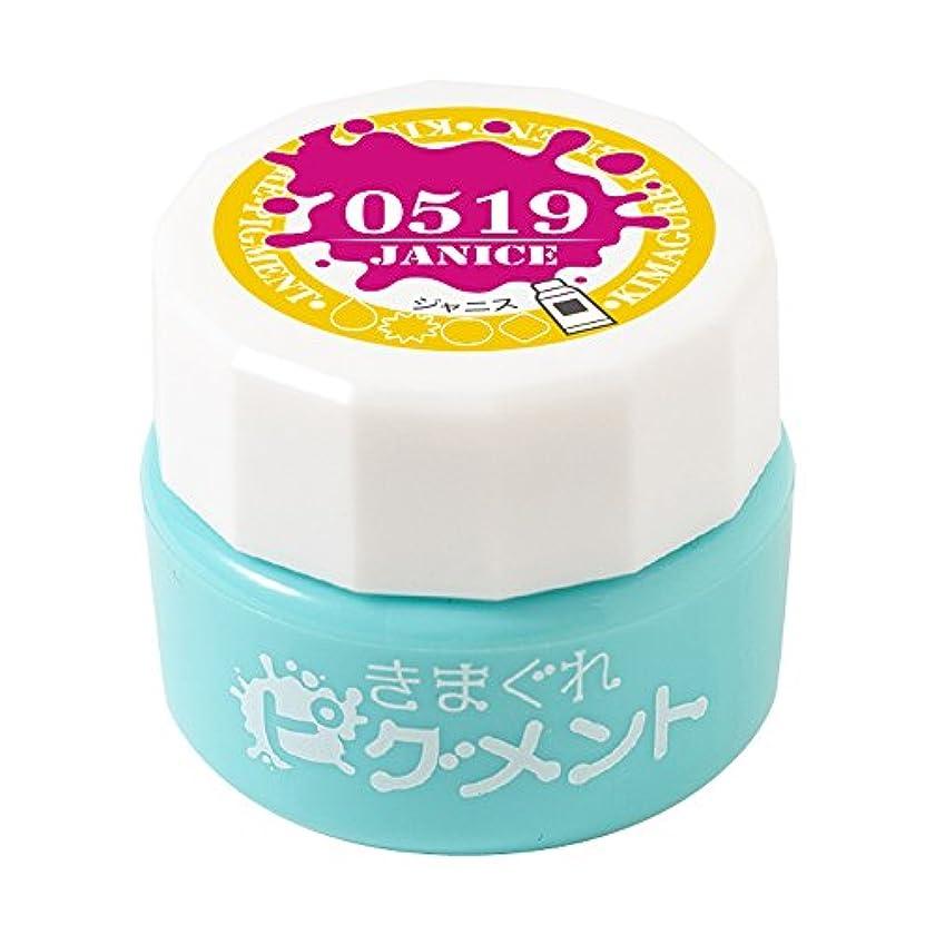 髄マウスピース書店Bettygel きまぐれピグメント ジャニス QYJ-0519 4g UV/LED対応