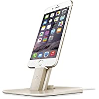 Twelve South HiRise Deluxe for iPhone/iPad/Smartphone gold | Adjustable charging stand w/Lightning + MicroUSB cables [並行輸入品]