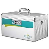 薬箱、アルミ合金の世帯の薬箱、診療所の緊急の医療箱の収納箱、自動車、旅行、オフィスのために適した