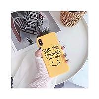 新しいラブリー漫画手紙電話ケースiphone×6 6 s 8プラスケースファッションハードPCフロストバックカバーiphone 7ケース黄色キャパ,For iphone 6 6S,T17