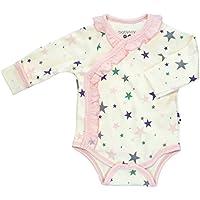 Babysoy Long Sleeve Star Pattern Ruffle Bodysuit