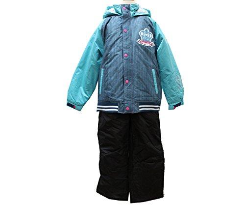 [해외]번호 375-9760 (리얼 데님 무늬) 주니어 스키웨어 상하 분리형 여자/Part No. 375-9760 (Real Denim pattern) Junior Ski Wear Separate Girls
