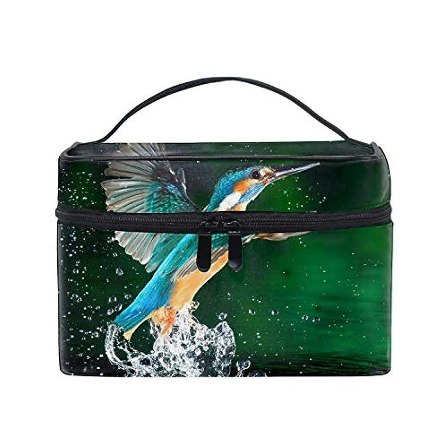水陸両用火曜日足メイクポーチ ボックス 小物入れ 仕切り 旅行 出張 持ち運び便利 コンパクトハチドリの鳥のスプレー