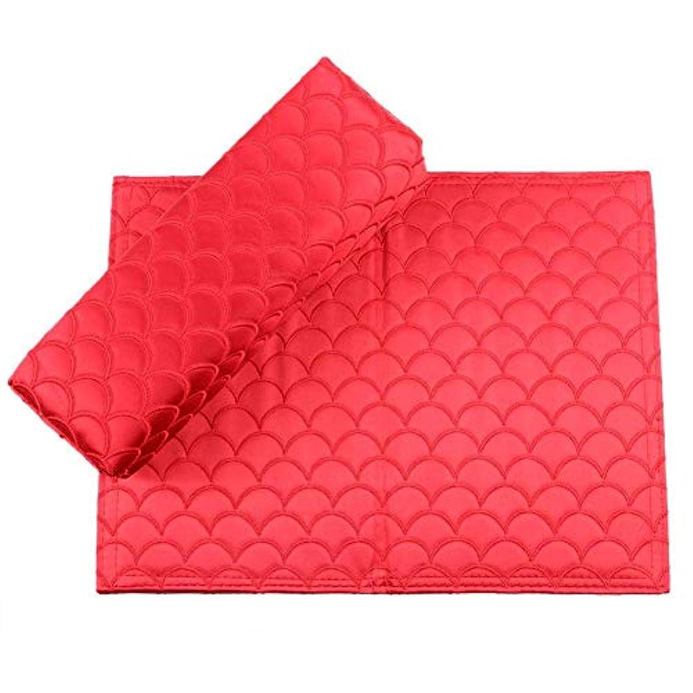 広範囲に検閲特異なYuyte 6色2個折り畳み式の絶妙なソフトシルクネイルアートハンドピロー-アームレストマニキュアサロンの耐高温ハンドクッション(04)