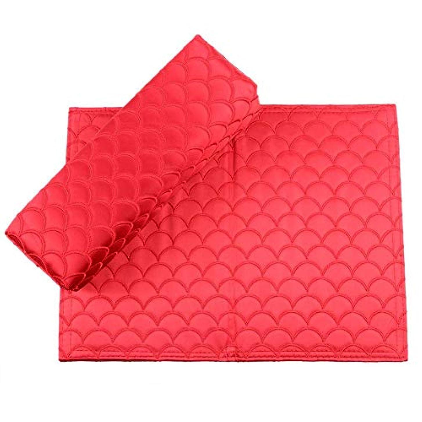 やけどエキサイティングのぞき穴Yuyte 6色2個折り畳み式の絶妙なソフトシルクネイルアートハンドピロー-アームレストマニキュアサロンの耐高温ハンドクッション(04)