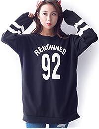 (リザウンド) ReSOUND ロゴ トレーナー ペアルック カットソー シャツ 長袖 英字 プリント 男 女 兼用 #82