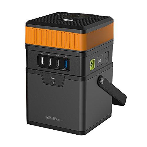ポータブル 電源 170.1Wh/47250mAh 大容量 キャンプ バッテリー USB& DC& AC 出力対応 取り付け インバーター、LED電量ディスプレイ、ほこり防止ベルトを搭載する 緊急・災害・停電時の家庭 バックアップ 用 電源 3つの充電方法