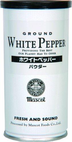 マスコット ホワイトペッパーパウダー 缶入り 100g