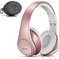 Bluetooth ヘッドホン MKayワイヤレスヘッドフォン 密閉型 高音質 Bluetooth V4.2 25時間音楽再生 1.5時間の高速充電 折りたたみ式 マイク内蔵 スマホ・タブレット・パソコンに対応(ローズゴールド)