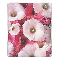 マウスパッド 疲労低減 ワイヤレスマウスパッド 耐久性に優れ 滑り止めゴム底 滑り良い 防水 マウス用パット レーザー&光学式マウス対応 マウス パッド ロマンチックなピンクの花