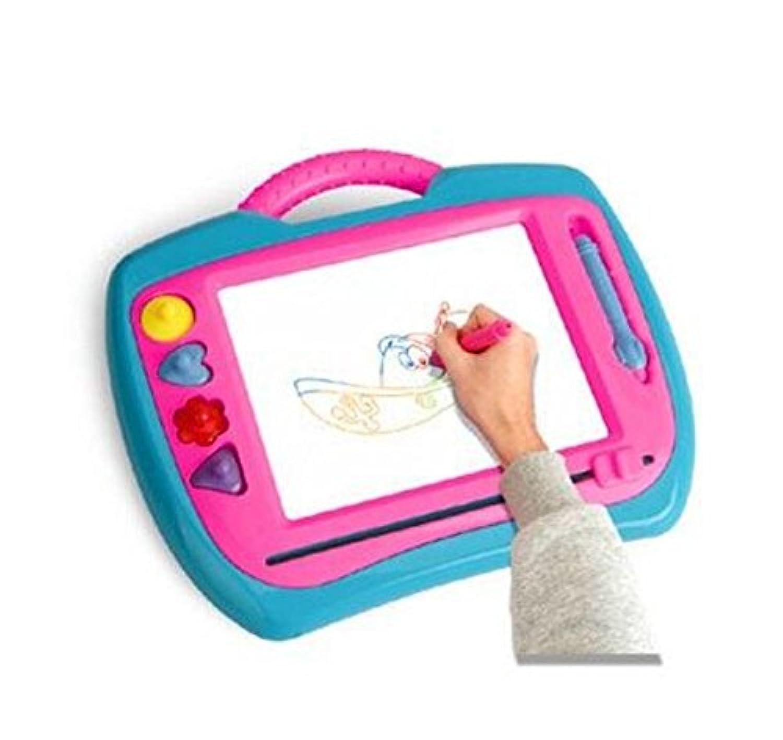 HuaQingPiJu-JP 子供のインスピレーションと色のためのスケッチパッドを書いて削除する消去可能なカラフルな描画ボード