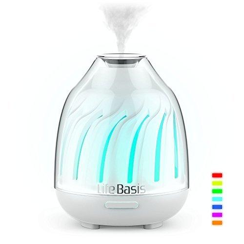 LifeBasis アロマディフューザー 小型超音波式空気清...