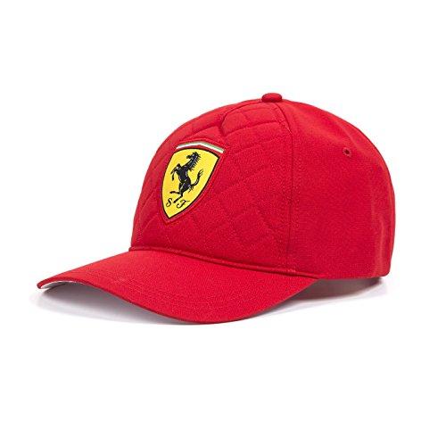 [해외]페라리 2018 퀼트 스티치 캡 레드/Ferrari 2018 quilt stitch cap red