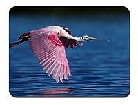 ベニヘラサギ飛行、鳥、翼、水 パターンカスタムの マウスパッド 動物 (22cmx18cm)