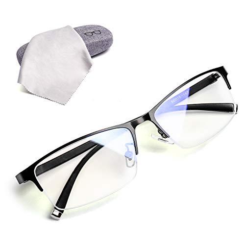 Luwinブルーライトカット メガネ パソコン用メガネ PCメガネ 度なし UVカット 軽量 眼鏡 おしゃれ ファッション メンズ 女性 男女兼用