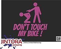 JINTORA ステッカー/カーステッカー - Don't touch my bike! - 私の自転車に触れないでください! - 99x99 mm - JDM/Die cut - 車/ウィンドウ/ラップトップ/ウィンドウ - バイオレット
