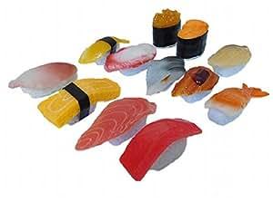 【Rurumi】食品サンプル お寿司 12種 セット 実物大 マグロ ウニ たまご 等 12個 寿司