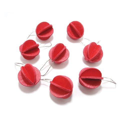 RoomClip商品情報 - 北欧lovi ロヴィ/Sツリー用 クリスマス オーナメント ボール1.7cm x 8個入/ライトレッド[クリスマス オーナメント ボールは北欧lovi]