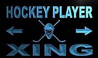LED看板 ネオンプレート サイン 電飾・店舗看板・標識・サイン カフェ バー ADV PRO m797-b Hockey Player Xing Neon Light Sign