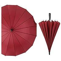 HSBAIS メンズ レディーに対して紳士傘、自動開き 高耐久性 耐風 撥水,Red
